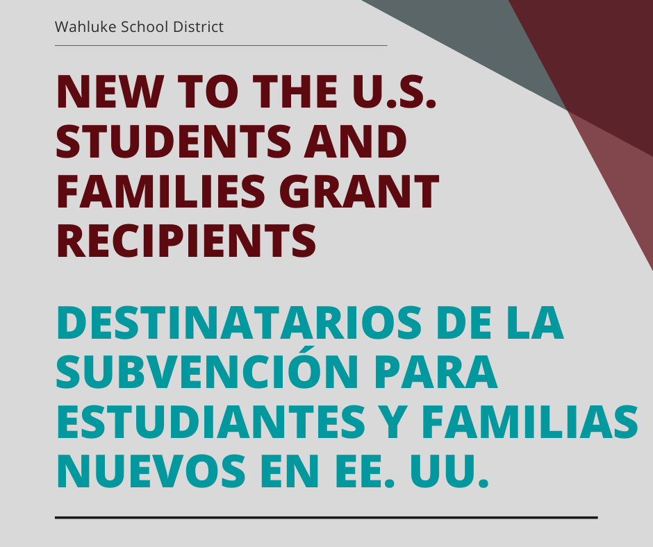 ​English Learner Advocates for the Migrant and Bilingual Program work with the Director of Student Programs for New to the U.S. Students and Families Grant.