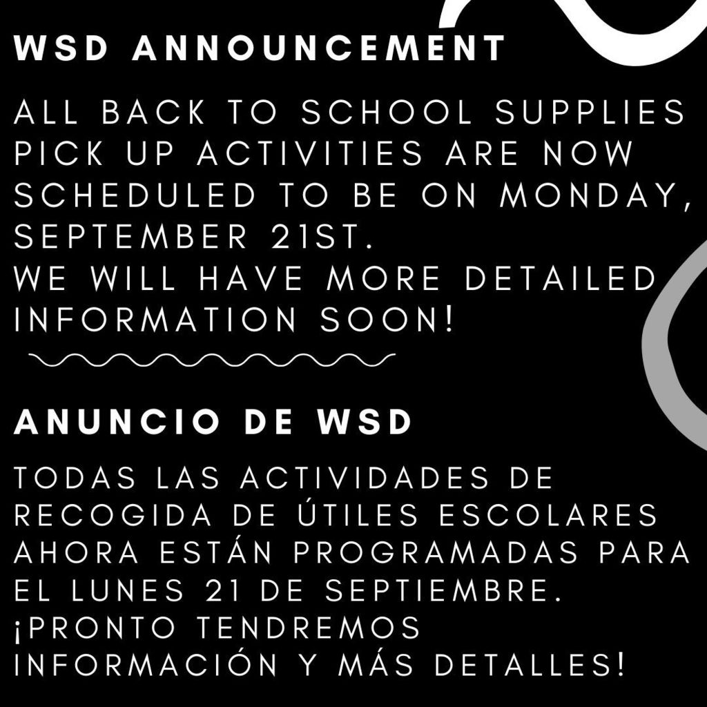 WSD Announcement